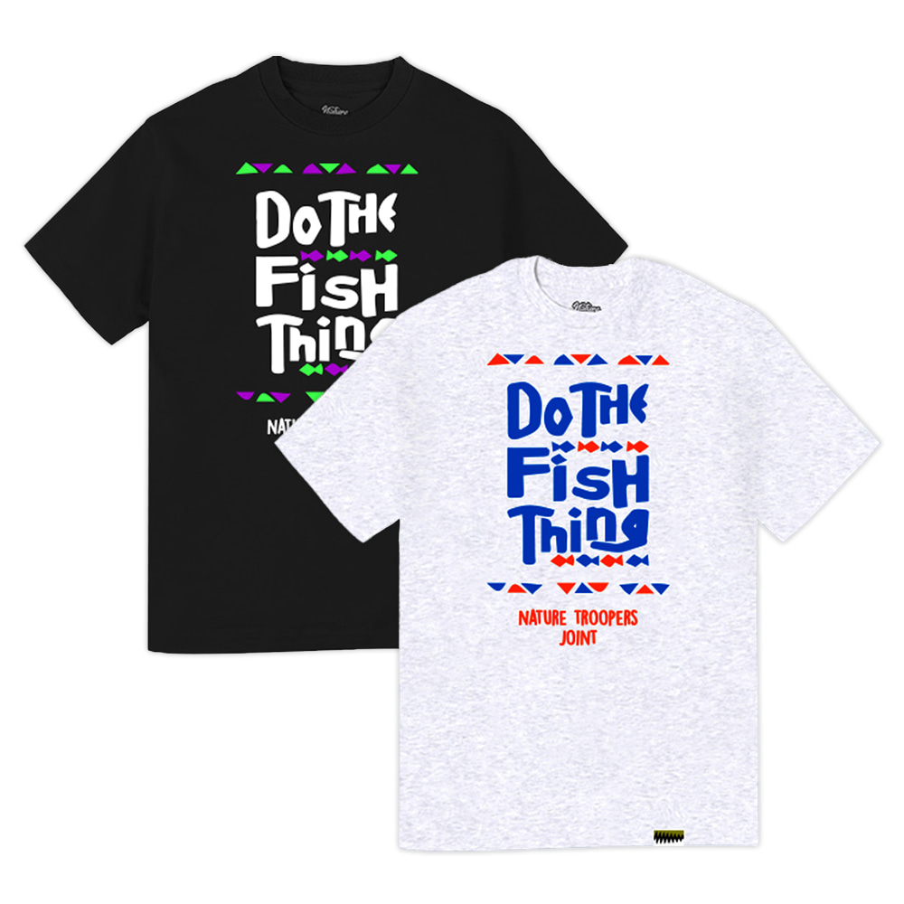 NTPS Fish Thing Tee - Black/AshGray